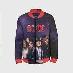Бомбер детский AC/DC цвета 3D-красный — фото 1