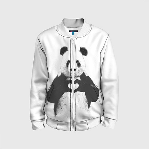 Детский бомбер Panda Love / 3D-Белый – фото 1