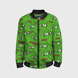 Бомбер детский Sad frogs цвета 3D-черный — фото 1