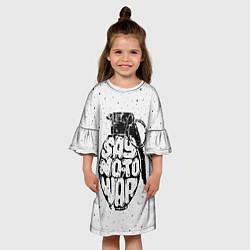 Платье клеш для девочки Say no to War цвета 3D — фото 2