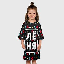 Платье клеш для девочки Лёня цвета 3D — фото 2