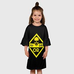 Платье клеш для девочки FORD цвета 3D — фото 2