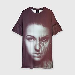 Платье клеш для девочки Chelsea Grin: Death Girl цвета 3D-принт — фото 1