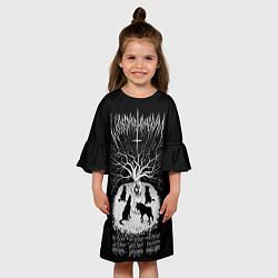 Платье клеш для девочки Wolves in the Throne Room цвета 3D-принт — фото 2