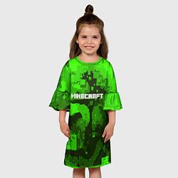 Платье клеш для девочки Minecraft: Green World цвета 3D — фото 2