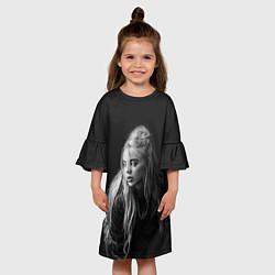 Платье клеш для девочки Billie Eilish: Black Fashion цвета 3D-принт — фото 2