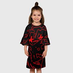 Платье клеш для девочки Алиса цвета 3D — фото 2