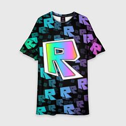 Платье клеш для девочки ROBLOX цвета 3D-принт — фото 1