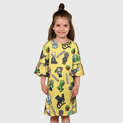 Платье клеш для девочки MINECRAFT цвета 3D — фото 2