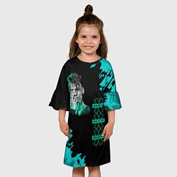 Платье клеш для девочки NILETTO цвета 3D-принт — фото 2