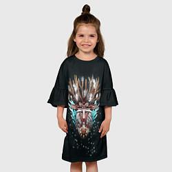 Платье клеш для девочки Princess Mononoke цвета 3D — фото 2