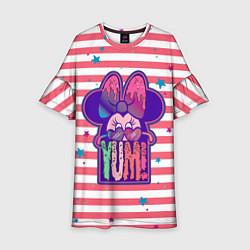 Платье клеш для девочки Minnie Mouse YUM! цвета 3D — фото 1