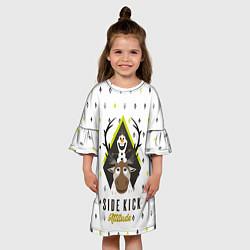 Платье клеш для девочки Свен и Олаф цвета 3D-принт — фото 2