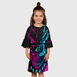 Платье клеш для девочки Неоновый НАРУТО цвета 3D — фото 2