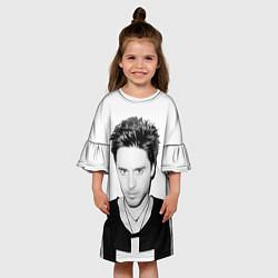 Платье клеш для девочки Джаред Лето цвета 3D-принт — фото 2