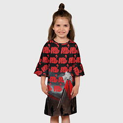 Платье клеш для девочки Pink Floyd Pattern цвета 3D-принт — фото 2