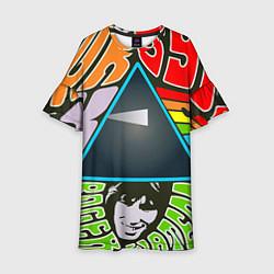Платье клеш для девочки Pink Floyd цвета 3D-принт — фото 1