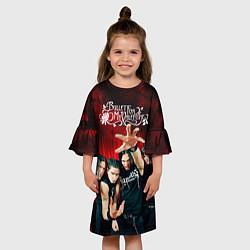 Платье клеш для девочки Bullet for my valentine цвета 3D — фото 2
