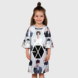 Платье клеш для девочки EXO Boys цвета 3D-принт — фото 2