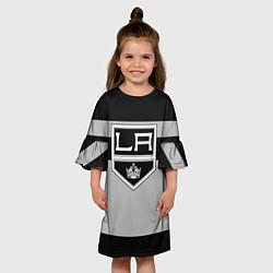 Платье клеш для девочки Los Angeles Kings цвета 3D — фото 2