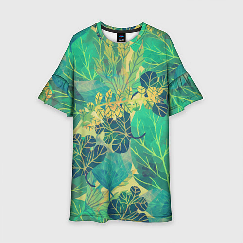 Детское платье Узор из листьев / 3D – фото 1
