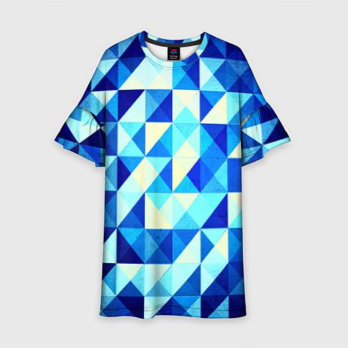 Детское платье Синяя геометрия / 3D – фото 1