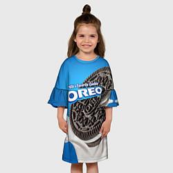 Платье клеш для девочки Oreo цвета 3D — фото 2