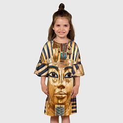 Платье клеш для девочки Фараон цвета 3D-принт — фото 2