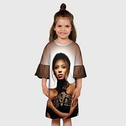 Платье клеш для девочки Beyonce Sexy цвета 3D-принт — фото 2