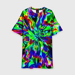 Платье клеш для девочки Оксид красок цвета 3D-принт — фото 1