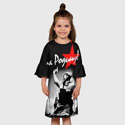 Платье клеш для девочки 9 мая 4 цвета 3D — фото 2