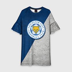 Платье клеш для девочки Leicester City FC цвета 3D-принт — фото 1