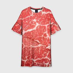 Платье клеш для девочки Кусок мяса цвета 3D — фото 1