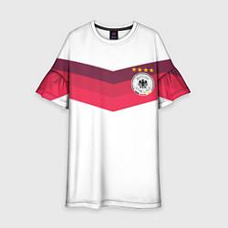 Платье клеш для девочки Сборная Германии по футболу цвета 3D-принт — фото 1