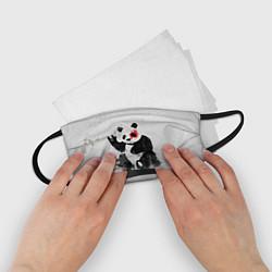 Маска для лица детская Рок-панда цвета 3D — фото 2
