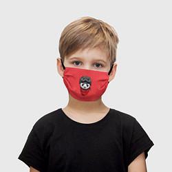 Маска для лица детская Панда пилот цвета 3D — фото 1
