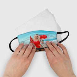 Маска для лица детская Baywatch: Pamela Anderson цвета 3D-принт — фото 2