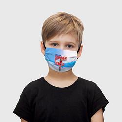 Маска для лица детская Summer is coming цвета 3D — фото 1