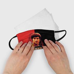 Маска для лица детская Брюс Ли цвета 3D-принт — фото 2