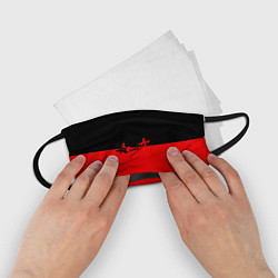 Маска для лица детская АлисА: Черный & Красный цвета 3D — фото 2