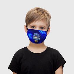 Детская защитная маска с принтом БРАВЛ СТАРС ЛЕОН, цвет: 3D, артикул: 10232045105919 — фото 1