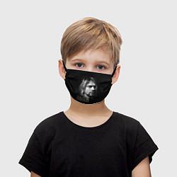 Маска для лица детская Курт Кобейн цвета 3D-принт — фото 1
