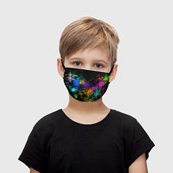 Маска для лица детская Брызги красок цвета 3D — фото 1