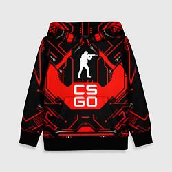 Толстовка-худи детская CS:GO Techno Style цвета 3D-черный — фото 1