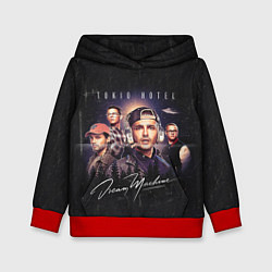 Толстовка-худи детская Tokio Hotel: Retro Dream цвета 3D-красный — фото 1