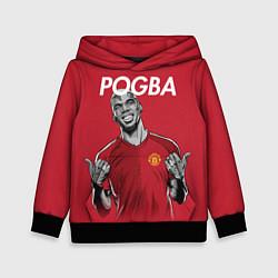 Толстовка-худи детская FC MU: Pogba цвета 3D-черный — фото 1