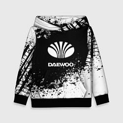Толстовка-худи детская Daewoo: Black Spray цвета 3D-черный — фото 1