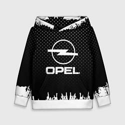 Толстовка-худи детская Opel: Black Side цвета 3D-белый — фото 1