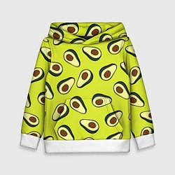 Толстовка-худи детская Стиль авокадо цвета 3D-белый — фото 1