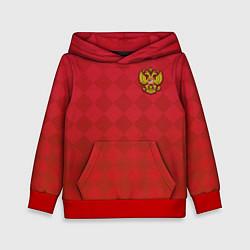 Толстовка-худи детская Форма сборной России цвета 3D-красный — фото 1
